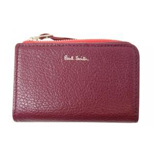 ポールスミス Paul Smith 財布 キーケース 小銭入れ カードケース コントラストジップ ワイン D03180|supplystore