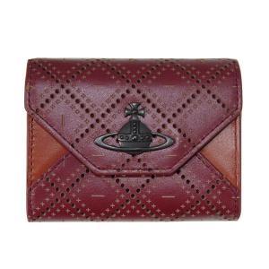Vivienne Westwood ヴィヴィアンウエストウッド 財布 小銭入れ カードケース パンチングレザー エンジ×ブラウン R342 新品|supplystore