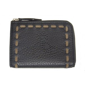 Vivienne Westwood ヴィヴィアンウエストウッド 小銭入れ キーケース ブラック ステッチ R851 新品|supplystore
