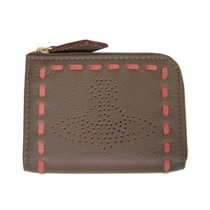 Vivienne Westwood ヴィヴィアンウエストウッド 小銭入れ キーケース グレー ステッチ R853 新品|supplystore