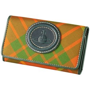 Vivienne Westwood ヴィヴィアンウエストウッド キーケース 鍵入れ タータン グリーン×オレンジ S851|supplystore