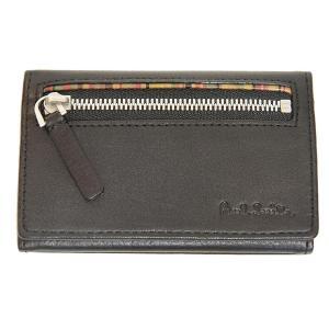 ポールスミス Paul Smith カードケース 名刺入れ 小銭入れ 財布 マルチストライプ ブラック U81310 メンズ|supplystore