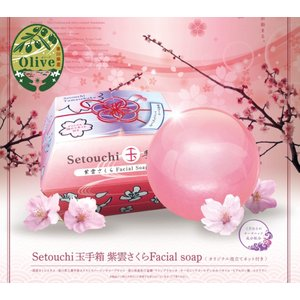 Setouchi玉手箱紫雲さくらFacial soap〜オリジナル泡だてネット付き|supreme118