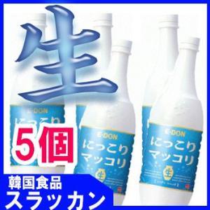 【 (二東)生マッコリ−1L(PET)】5個★E-DONG/韓国食品/お酒/キムチ/チヂミ/韓国お酒...