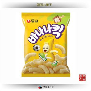 農心 バナナキック 75g / 韓国お菓子類・バナナ味のスナック