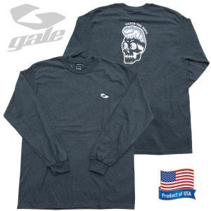 GALE ゲール ウルトラ コットンロングスリーブTシャツ(GL-356)D/GRY 2020FWモデル surf-alphas