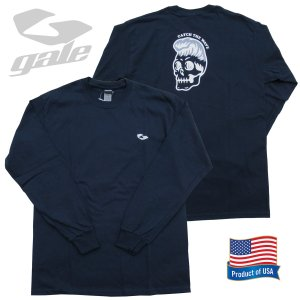 GALE ゲール ウルトラ コットンロングスリーブTシャツ(GL-356)NVY 2020FWモデル surf-alphas