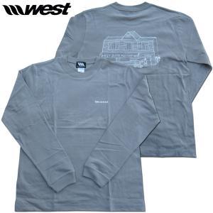 WEST ウエスト 2020 ロングスリーブTシャツ  5.6oz Cotton (Factory L/S Tee) Stone Gray/ ウエストスーツ|surf-alphas