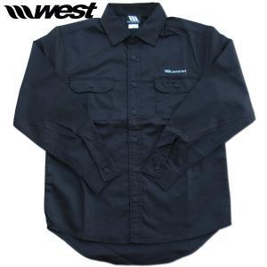 WEST ウエスト T/Cワークシャツ Dark Navy/2020秋冬新作/ウエストスーツ|surf-alphas