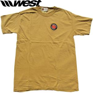 WEST ウエスト 2021クラシックエンブレム(刺繍ワッペン)後染めTシャツ   (Monarch)  ウエストスーツ|surf-alphas