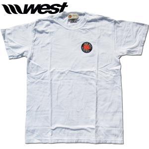 WEST ウエスト 2021クラシックエンブレム(刺繍ワッペン)後染めTシャツ   (Whte)  ウエストスーツ|surf-alphas