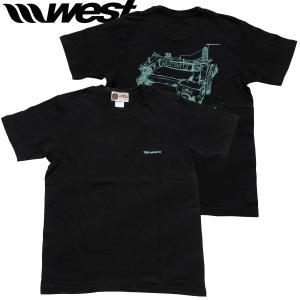WEST ウエスト 2021Tシャツ  5.0oz Cotton (Sewing Machine) ブラック/ ウエストスーツ|surf-alphas