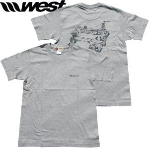 WEST ウエスト 2021Tシャツ  5.0oz Cotton (Sewing Machine) ミックスグレー/ ウエストスーツ|surf-alphas