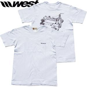 WEST ウエスト 2021Tシャツ  5.0oz Cotton (Sewing Machine) ホワイト/ ウエストスーツ|surf-alphas