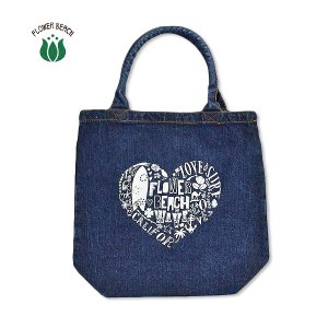 FLOWER BEACH /HEART ART/DENIM BAG/デニムバッグ/トート|surfbiarritz-store