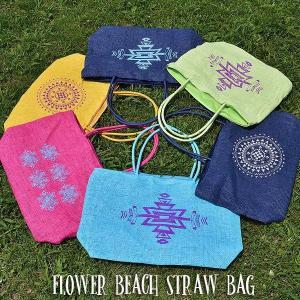 FLOWER BEACH /STRAW BAG/ビーチバック/ショルダーバック|surfbiarritz-store