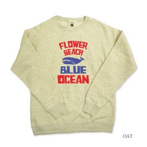 FLOWER BEACH/BLUE/SWEAT/ORDER|surfbiarritz-store