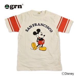 grn/フットボール/Tシャツ/ミッキー/MICKEY/DISNEY|surfbiarritz-store