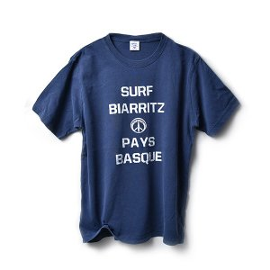 SURF BIARRITZ/PIGMENT/BASIC/T-SHIRT/Tシャツ/NAVY|surfbiarritz-store