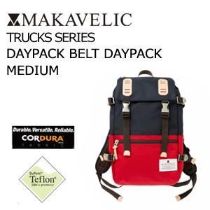 送料無料 MAKAVELIC TRUCKS DOUBLE BELT DAYPAC MEDIUM DARK NAVY-RED マキャベリック トラックス デイパック ダークネイビーレッド|surfer