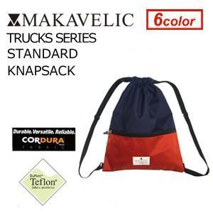 MAKAVELIC TRUCKS STANDARD KNAPSACK NAVY-RED マキャベリック トラックス スタンダード ナップサック ネイビーレッド|surfer