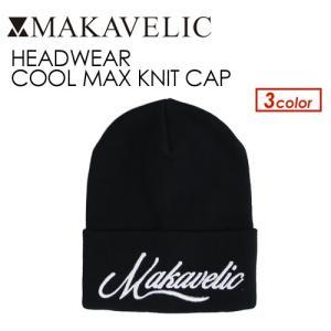 送料無料 MAKAVELIC マキャベリック ビーニー ニット CAP ニット帽 帽子/HEADWEAR COOL MAX KNIT CAP|surfer