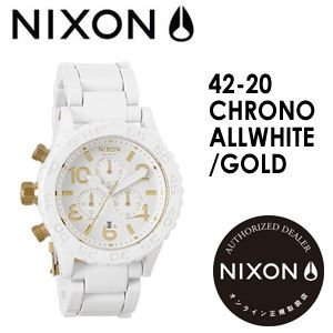 NIXON,ニクソン,腕時計,正規取扱店●42-20CHRONO-ALLWHITE/GOLD|surfer