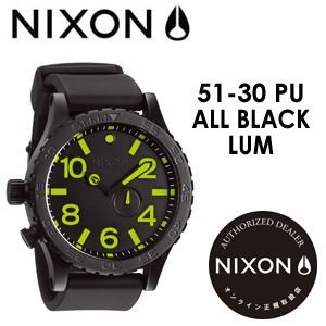 NIXON,ニクソン,腕時計,正規取扱店●51-30-PU-ALL-BLACK/LUM|surfer