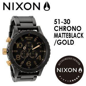 【あすつく対応】NIXON,ニクソン,腕時計,正規取扱店●51-30CHRONO-MATTEBLACK/GOLD|surfer
