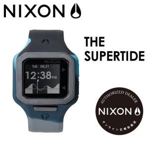 【あすつく対応】NIXON,ニクソン,腕時計,正規取扱店●SUPERTIDE-BLACK-SEAFOAM-GRAY|surfer