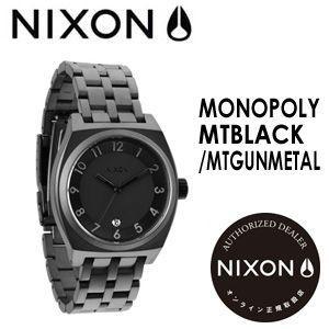 NIXON,ニクソン,腕時計,正規取扱店●MONOPOLY-TBLACK/MTGUNMETAL|surfer