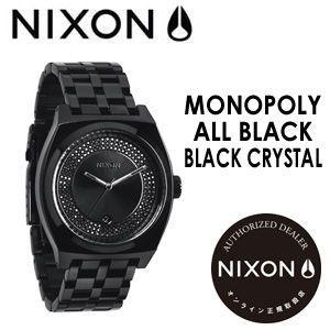 【あすつく対応】NIXON,ニクソン,腕時計,正規取扱店●MONOPOLY-ALL-BLACK/BLACK-CRYSTAL|surfer