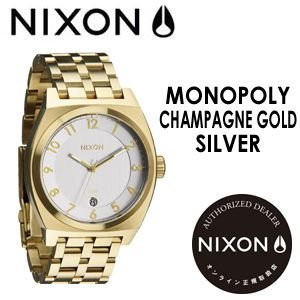 NIXON,ニクソン,腕時計,正規取扱店●MONOPOLY-CHAMPAGNE-GOLD/SILVER|surfer