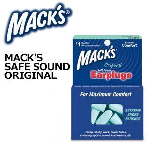 MACK'S,マックス,耳栓●Safe Sound Original Earplugs セーフサウンド オリジナル イヤープラグ|surfer