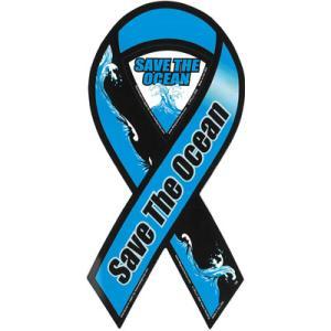 サーフィン リボンマグネット 寄付 募金/SAVE THE OCEAN 日本限定モデル surfer