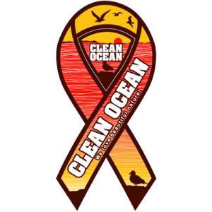 サーフィン リボンマグネット 寄付 募金/CLEAN OCEAN surfer