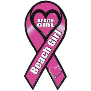 サーフィン リボンマグネット 寄付 募金/Beach Girl ビーチガール surfer