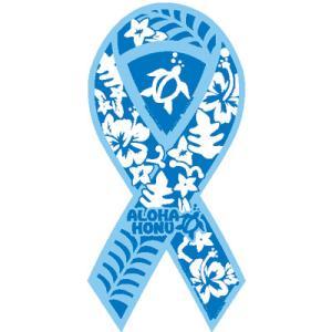 サーフィン リボンマグネット 寄付 募金/ホヌ ブルー surfer