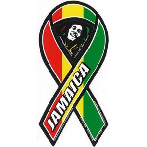 サーフィン リボンマグネット 寄付 募金/Jamaica ラスタ surfer
