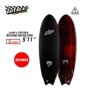 【送料無料】ODYSEA,オディシー,サーフボード,CATCHSURF,キャッチサーフ,ソフトボード●Lost × ODYSEA ROUND NOSE FISH 5'11''|surfer