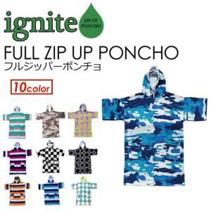 IGNITE,イグナイト,着替え,ジップポンチョ,mnv,sale●FULL ZIP UP PONCHO フルジッパーポンチョ|surfer