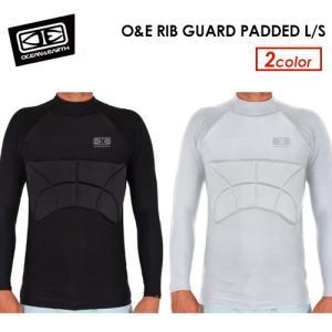 OCEAN&EARTH オーシャンアース パッド付ラッシュガード 肋骨 保護 長袖/O&E RIB GUARD PADDED L/S|surfer
