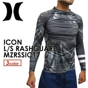 Hurley,ハーレー,ウェットスーツ,ラッシュガード,紫外線対策,17ss●ICON L/S RASHGUARD MZRLSIC17|surfer