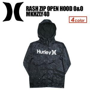 Hurley,ハーレー,サーフィン,ウェットスーツ,ラッシュガード,紫外線対策,17sp●RASH ZIP OPEN HOOD O&O MKHZLY40|surfer