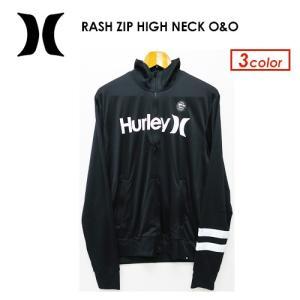 【あすつく対応・送料無料】Hurley,ハーレー,サーフィン,ウェットスーツ,ラッシュガード,紫外線対策,17su●RASH ZIP HIGH NECK O&O MKNZLY40|surfer