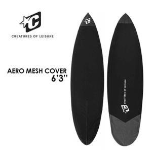 送料無料 CREATURES クリエイチャー ボードケース メッシュケース ショートボード 21ss●AERO MESH COVER 6'3'' surfer