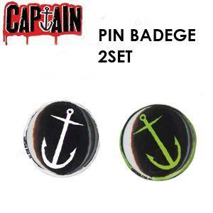 【あすつく対応】CAPTAIN FIN,キャプテンフィン,ピンバッジ●CFPINSET CAPTAIN FIN PIN BADGE ピンバッジ-S 2個セット|surfer
