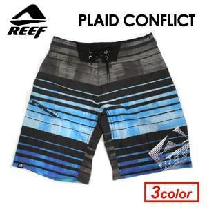 ボードショーツ,サーフトランクス,水着,REEF,リーフ●PLAID CONFLICT|surfer