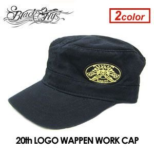 BLACKFLYS ブラックフライズ CAP ワークキャップ/20th LOGO WAPPEN WORK CAP|surfer