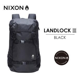 【送料無料】正規品,NIXON,ニクソン,バックパック,リュックサック●LANDLOCK III BACKPACK BLACK|surfer